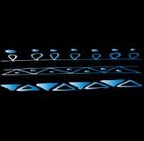在黑暗的背景的抽象乱画的线 移动的五颜六色的线 库存图片