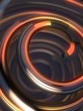 在黑暗的背景的抽象五颜六色的螺旋 3d翻译 免版税库存图片