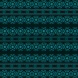 在黑暗的背景的抽象几何蓝色无缝的样式 库存图片