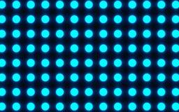 在黑暗的背景的明亮的蓝色圈子 库存图片