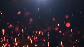 在黑暗的背景的火花 免版税图库摄影