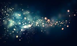 在黑暗的背景的闪烁的星 免版税库存照片