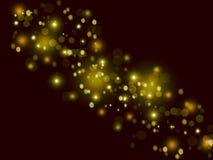 在黑暗的背景的闪耀的光 图库摄影