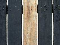在黑暗的胡闹之间的明亮的木胡闹 免版税库存照片