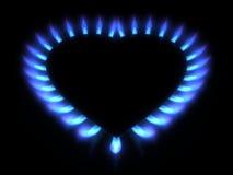 在黑暗的蓝色煤气炉 图库摄影