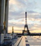巴黎在12月,法国 库存照片