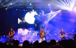 在10月费斯特的货物生活音乐会在奥拉迪亚罗马尼亚 免版税库存照片