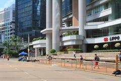 在9月29日伞革命以后,香港 库存图片