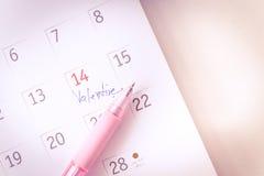 在2月14日华伦泰的特写镜头 免版税库存图片