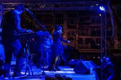 在5月19日青年节日音乐会的Aydilge Sarp 库存照片