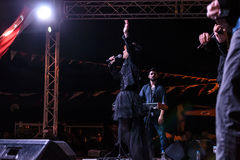 在5月19日青年节日音乐会的Aydilge Sarp 库存图片