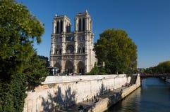 在晴朗的下午的大教堂Notre Dame 免版税库存图片