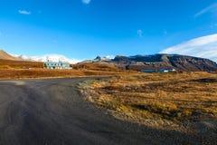 在晴朗的天气的冰岛风景 库存照片