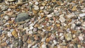 在晴朗的海滩的小卵石 股票录像