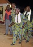 在总统洛朗・巴博的母亲的葬礼的非洲CONTEURS 库存图片