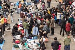 在代代木公园的跳蚤市场在原宿,日本 免版税库存图片