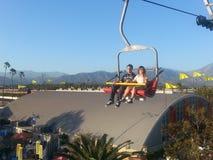 在洛杉矶郡的Skyride公平在波诺马 库存图片