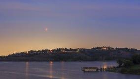 在洛杉矶,加利福尼亚附近的红色月亮 库存图片
