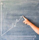 在黑板得出的图表 免版税库存图片