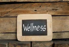 在黑板的健康概念 图库摄影