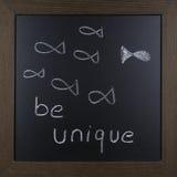 在黑板的刺激图片 免版税图库摄影
