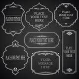 在黑板的框架设计 免版税库存照片
