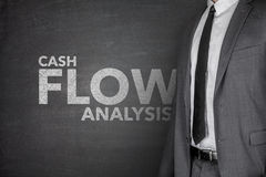 在黑板的现金流动分析 免版税图库摄影