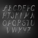 在黑板的简单的逗人喜爱的字母表 免版税库存照片