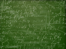 在黑板的算术惯例 10 eps 库存照片