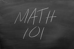 在黑板的算术101 免版税库存照片