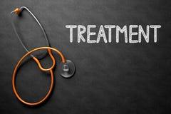 在黑板的治疗概念 3d例证 免版税库存图片