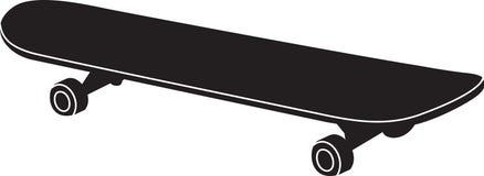 在滑板的黑色的剪影 皇族释放例证