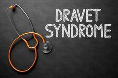 在黑板的Dravet综合症状 3d例证 免版税库存图片