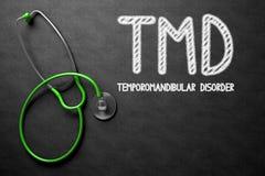 在黑板的TMD 3d例证 图库摄影