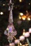 在结构树的圣诞节装饰品 免版税库存图片