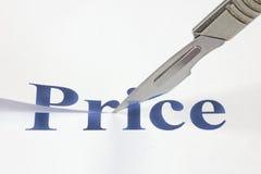在价格的裁减 免版税库存照片