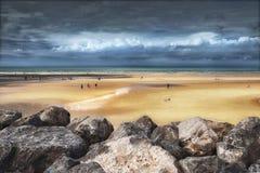 在维桑,法国的海滩 免版税库存图片