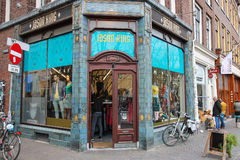 在贾森国王衣裳商店附近的人们在乌得勒支,荷兰 库存图片