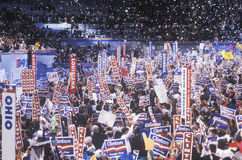 在1992年民主党全国代表大会的总统庆祝在麦迪逊广场加登 免版税图库摄影