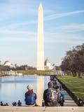 在水池的华盛顿反射 免版税库存照片