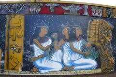 在巴波亚公园的墙壁上的艺术在圣地亚哥 库存照片