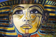 在巴波亚公园的墙壁上的艺术在圣地亚哥 图库摄影