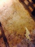 在水泥的污点 免版税图库摄影