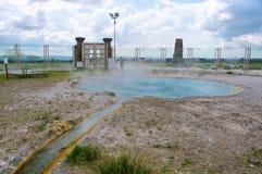 在维泰博意大利附近的Bullicame温泉 免版税图库摄影