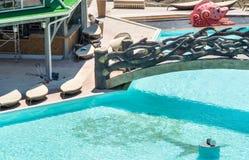 在黑海海岸的Aquapark在保加利亚语Kranevo 库存照片