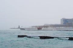 在黑海的冬天 免版税库存图片