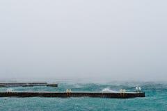 在黑海的冬天 免版税库存照片