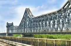 在黑海的切尔纳沃德桥梁在康斯坦察,罗马尼亚 免版税库存图片