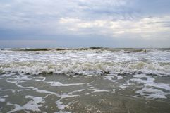 在黑海的多暴风雨的天气 免版税库存照片