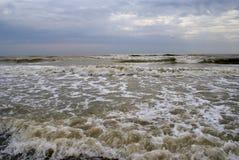 在黑海的多暴风雨的天气 库存照片